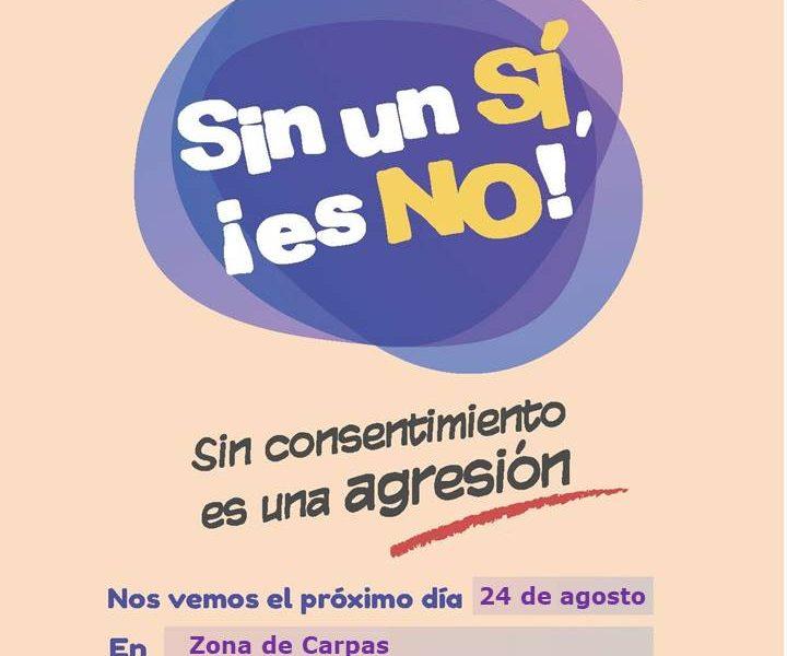 La campaña 'Sin un sí, ¡es NO!' llega a Iniesta con motivo de sus fiestas