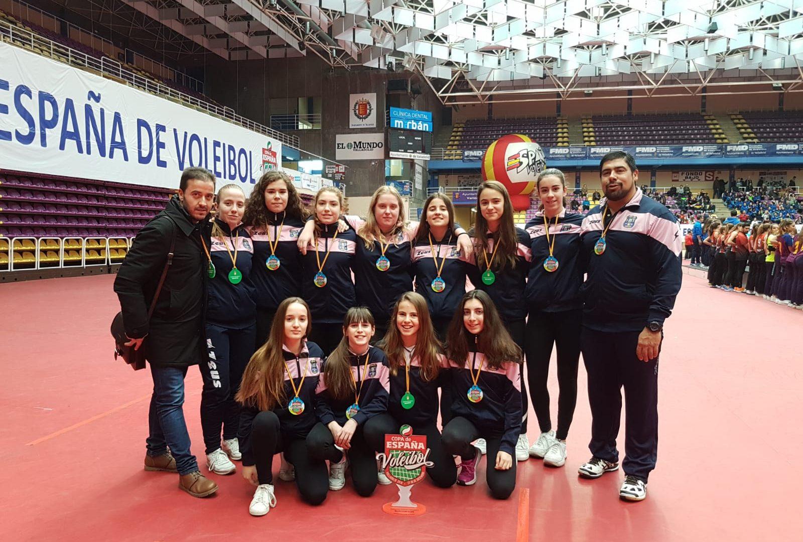 El Club voleibol Iniesta, Subcampeón de la Copa de España en Nivel 4