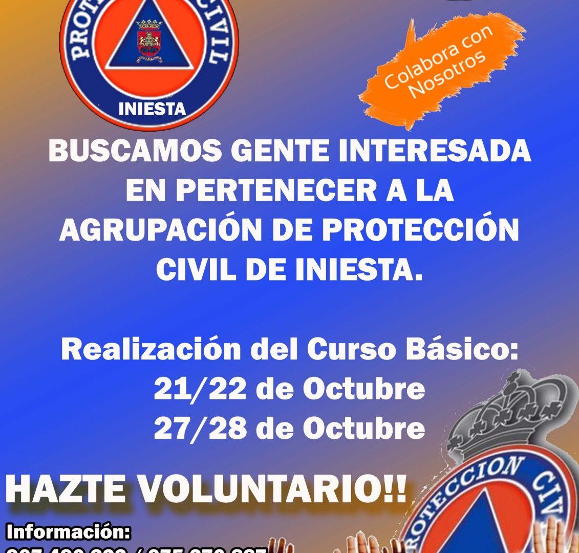 Protección Civil de Iniesta necesita voluntarios