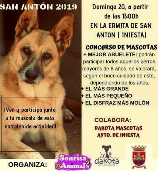 Sonrisa Animal de Iniesta organiza un concurso de mascotas para San Antón