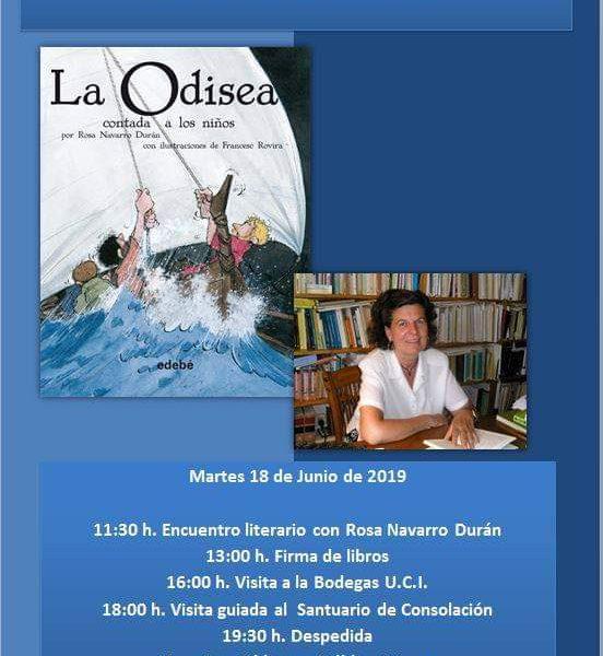 Encuentro literario con Rosa Navarro en Iniesta